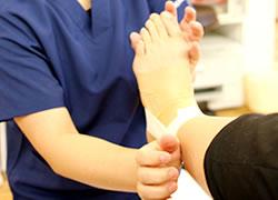 神戸市西区笑み整骨院:スポーツによる捻挫の治療写真