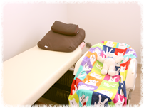 神戸市西区笑み整骨院の個室風景