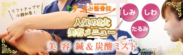 神戸市西区笑み整骨院の2大美容メニュー:美容鍼&炭酸ミスト