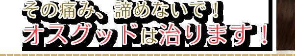 その痛み諦めないで!オスグッドは治ります!|神戸市西区の笑み整骨院
